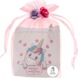 Monedero cuadrado de unicornio personalizado y presentado...
