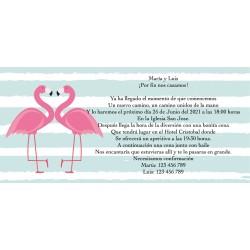 Invitación flamenco personalizado para bodas