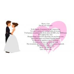 Invitación toda aventura personalizada para bodas