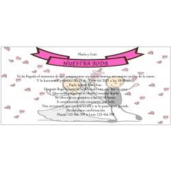 Invitación tú haces este día, personalizada para bodas