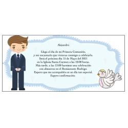 Invitación comunión niño...