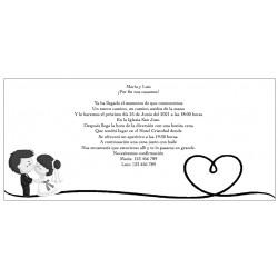 Invitaciones de Boda Personalizadas en Blanco y Negro