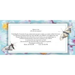 Invitaciones Mariposa para Boda Personalizada