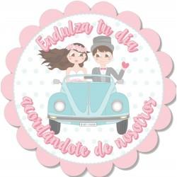 Adhesivo de bodas