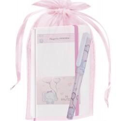 Libreta elefante personalizada con bolígrafo y bolsa de...