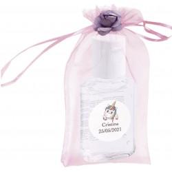Gel hidroalcohólico para Covid-19 en bolsa con flor y...