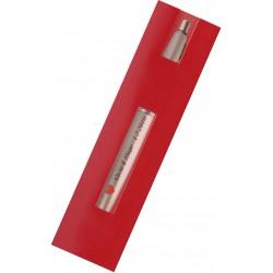 Bolígrafo plateado con funda y adhesivo para bodas