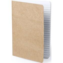 Libreta Marrón de cartón reciclado cosida
