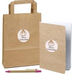 Libreta de comunión personalizada con bolígrafo y bolsa a...