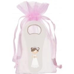 Abridor con bolsa para comunión niña