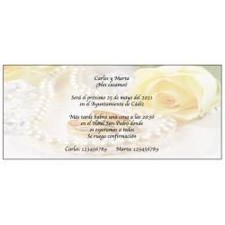 Invitaciones Originales Perlas de Boda