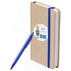 Libreta y bolígrafo...