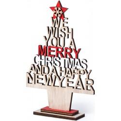 Árbol de Madera para Navidad con Mensaje Troquelado
