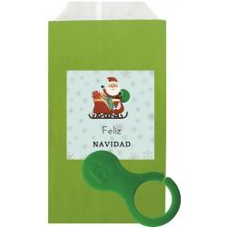 Llavero moneda con sobre y adhesivo navidad