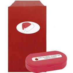 Pastillero rojo con sobre personalizado para navidad