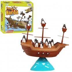Juego de Mesa Barco Pirata Pingüinos por la Borda