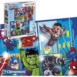 Set Puzzle Súper Héroes Marvel 20 Piezas