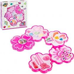 Set de Maquillaje Flor Rosa 4 Niveles para Niñas