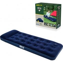Colchón Hinchable Azul Individual para Acampar con...