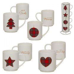 Tazas Apilables Decorativas Navidad