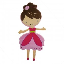 Adorable Cojín con Forma de Bailarina
