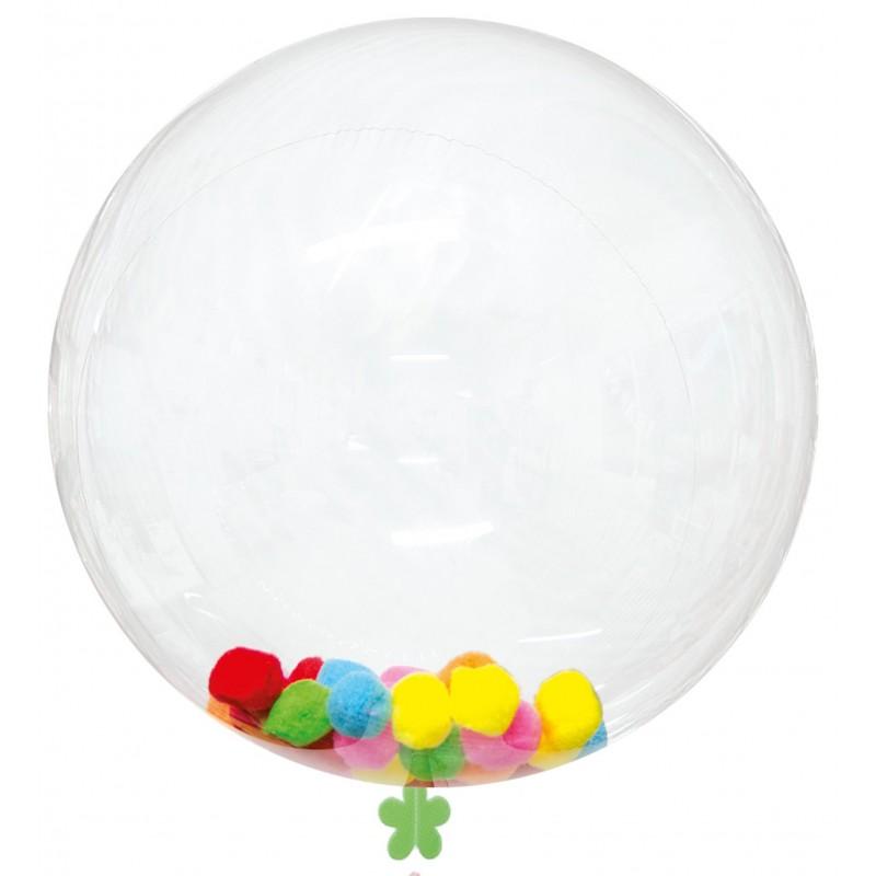 Pack de Globo Burbuja Transparente de 45 cm