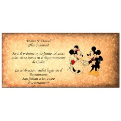 Invitaciones Disney Retro