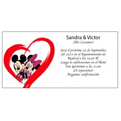 Invitaciones Boda Mickey y Minnie