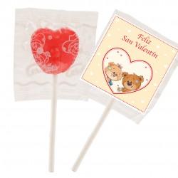 Piruletas para San Valentín Forma Corazón