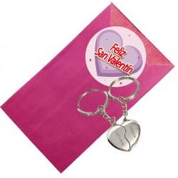 Llavero corazón personalizado para San Valentín