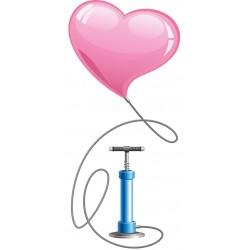 Llenado de globo con bomba de aire y manipulación