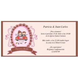 Invitaciones de Boda Novios en Coche