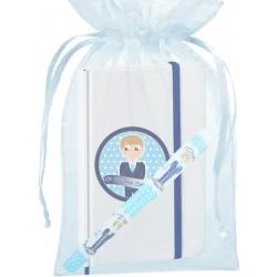 Bolígrafo comunión niño, con bolsa y libreta con adhesivo