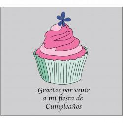 Adhesivo Agradecimiento Cumpleaños