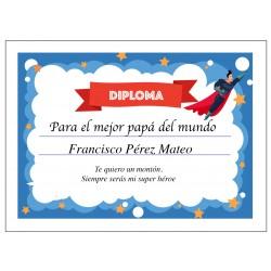 Diplomas para el Día del Padre Personalizados