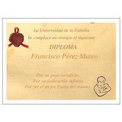 Diploma Personalizado Al Mejor Padre Del Mundo
