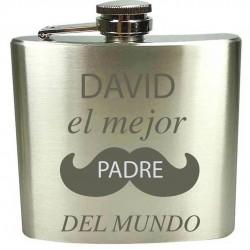 Petaca Grabada con Láser Personalizada Para el Día Del Padre