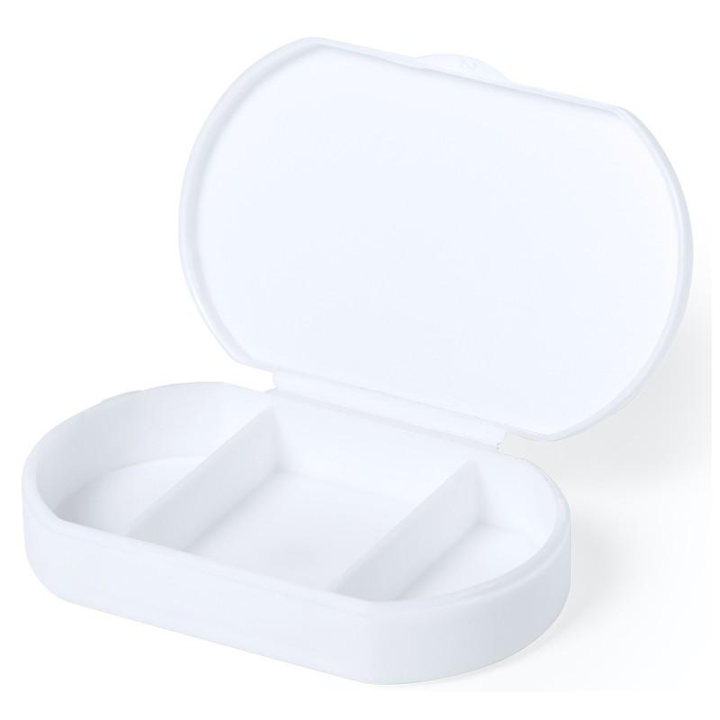 Pastillero Antibacteriano Blanco Con 3 Compartimentos