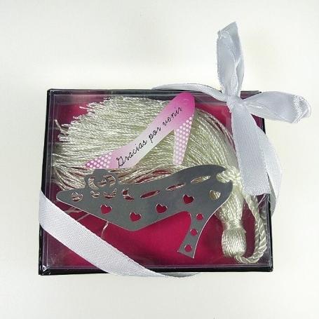 Marcapáginas Metal Zapato Originales y Utiles Detalles Boda