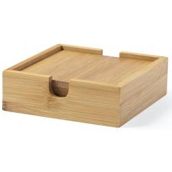 Set de 4 Posavasos Fabricados en Bambú