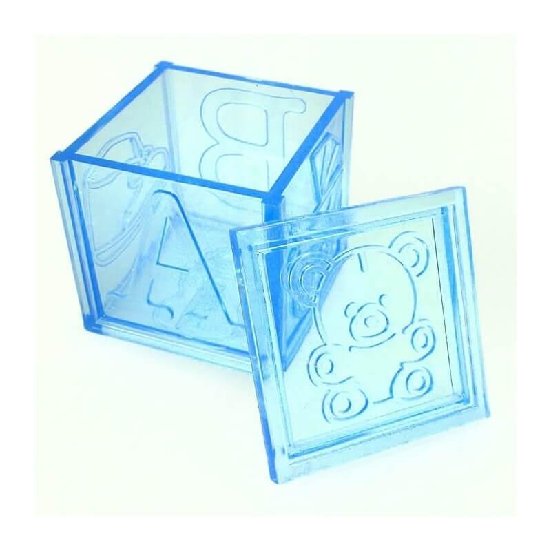 Caja Plástico para Regalos de Bautizo