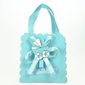 Bolsa para Bautizo Decorada Azul