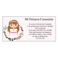 Invitaciones Comunión Niña Personalizadas
