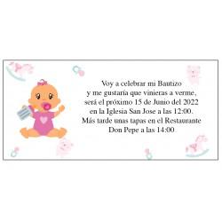 Invitación Bautizo Bebé Anita