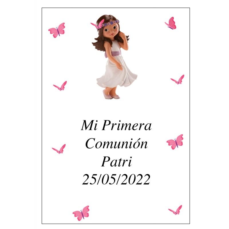 Adhesivo Personalizado Comunión Niña Patri 7 x 5