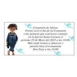Invitación Para Primera Comunión Niño Adrian