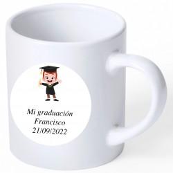 Recuerdo Graduación Taza con Adhesivo Personalizado
