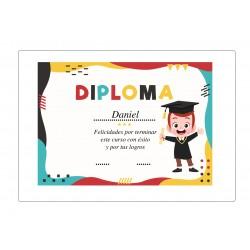 Diploma de Graduación Infantil Personalizado