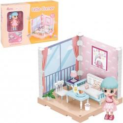 Muñeca Coleccionable Little Corner Sala de Estar