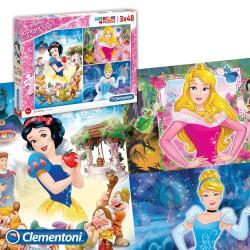 Rompecabezas Puzzle Princesas Disney 3 x 48 piezas
